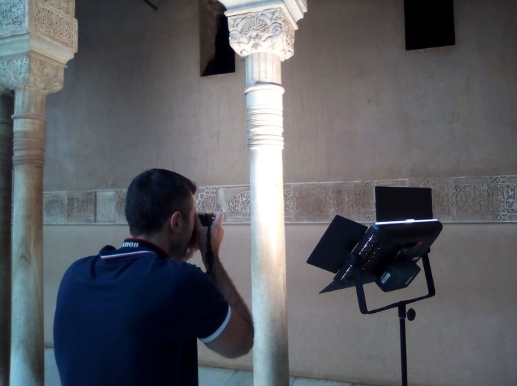 Thermography and photography for geometry applied to the Court of the Lions (Alhambra), Granada - July 8th and 9th, 2019