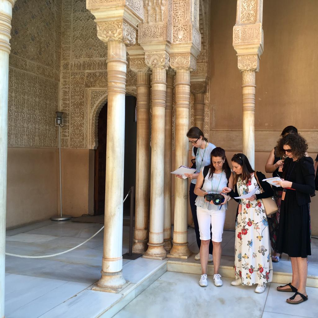 Using the camera in the columns of the Lions Court